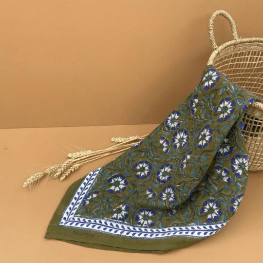 foulard imprimé block-print