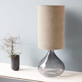 Pied de lampe en verre fumé small grey