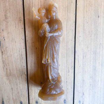 Vierge à l'enfant en cire