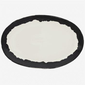 Assiette ovale en grès