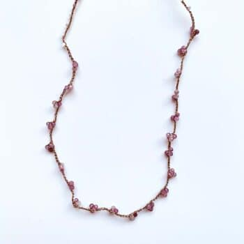 Collier Tourmaline rose