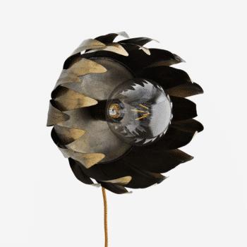 Applique murale fleur en métal