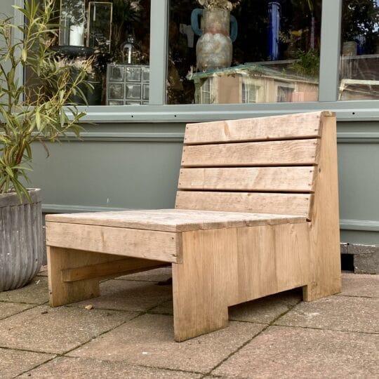 fauteuil d'extérieur WOODLAND bois brut