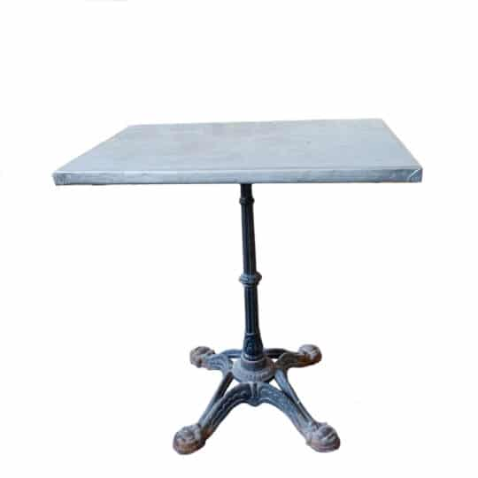 table de bistrot en métal vintage