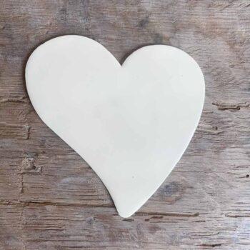 Coeur asymétrique émaillé – CHEZ les VOISINS