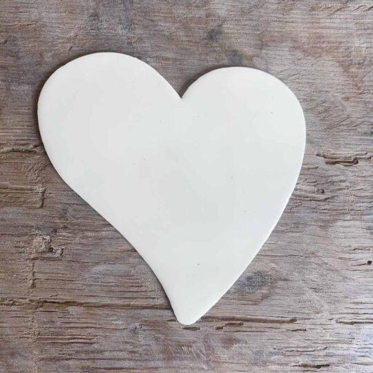 coeur asymétrique emaillé
