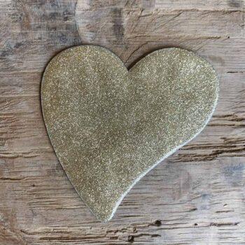 Coeur asymétrique émaillé • CHEZ les VOISINS