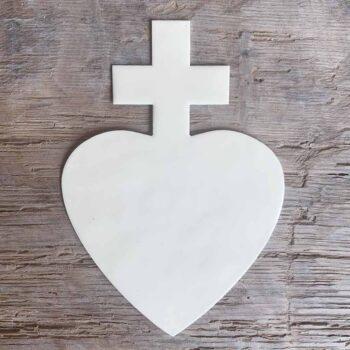Coeur croix émaillé – CHEZ les VOISINS