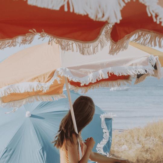 parasol en coton bio et franges