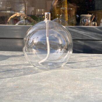 Lampe à huile sphérique en verre
