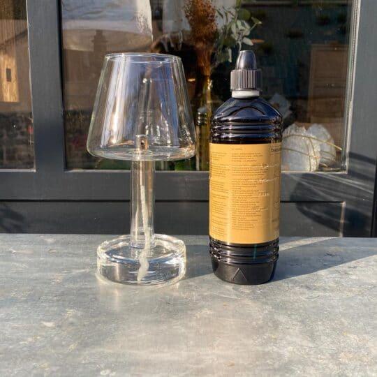 bouteille d'1 litre d'huile de parafine