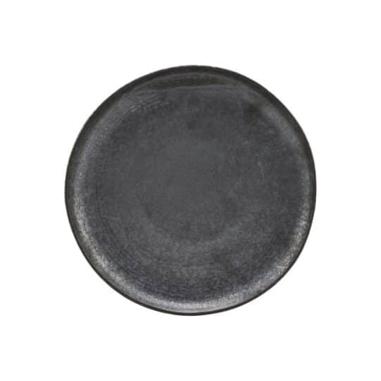 assiette plate en grès noir PION _ House Doctor