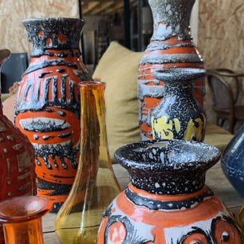Vase céramique flammé • VINTAGE