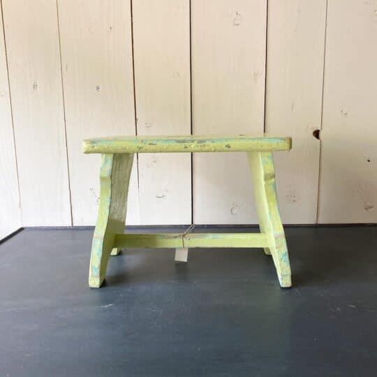 tabouret hongrois vintage vert