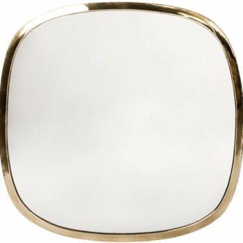 Miroir en laiton carré arrondi