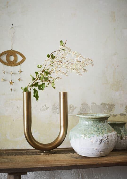 vase tube metal laiton Madam Stoltz